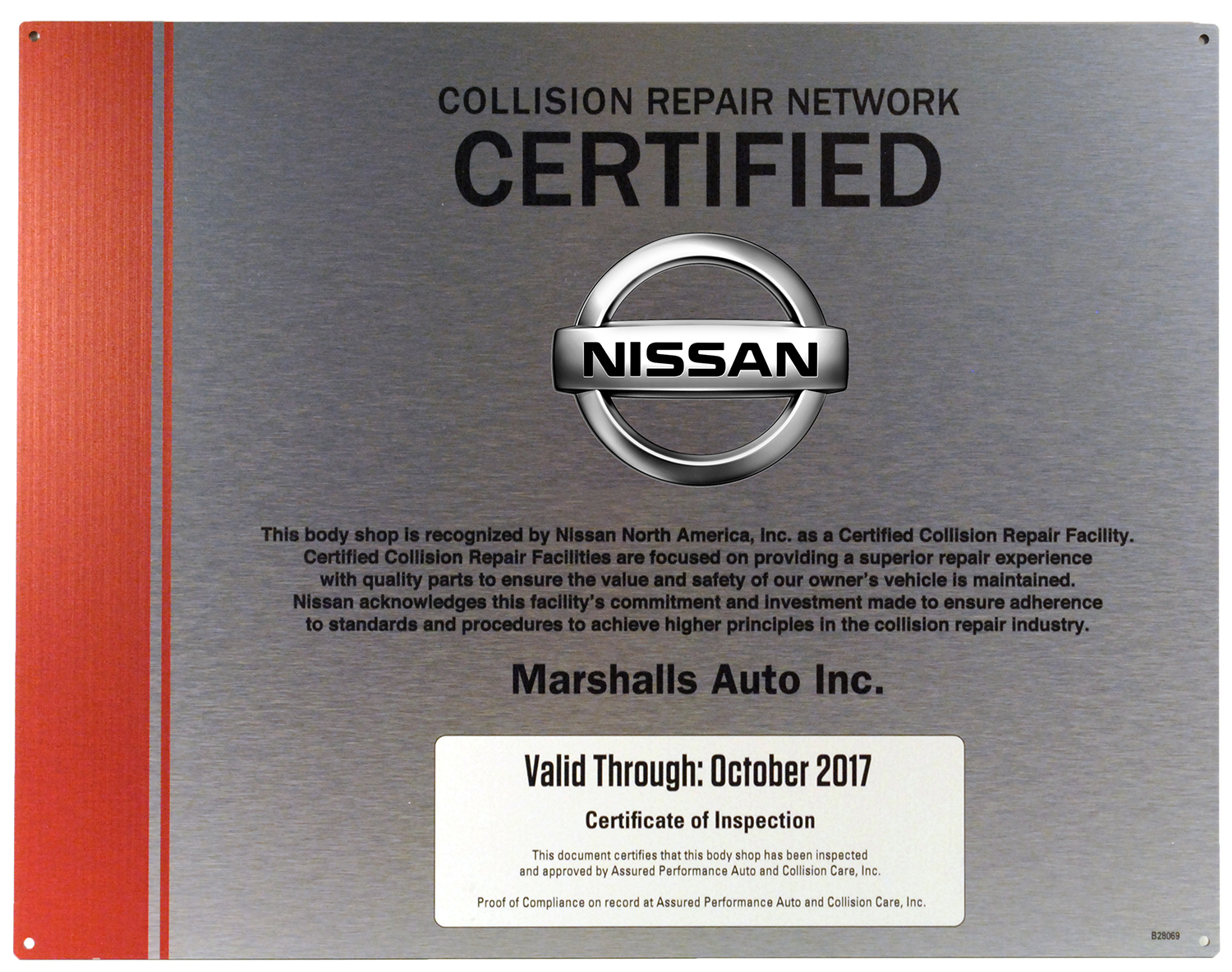 Nissan Collision Certified