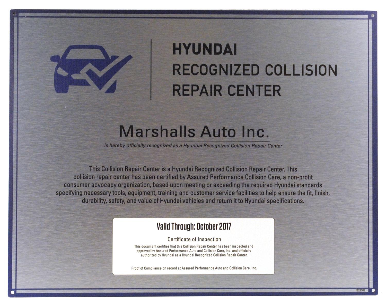 Hyundai Recognized Collision Repair