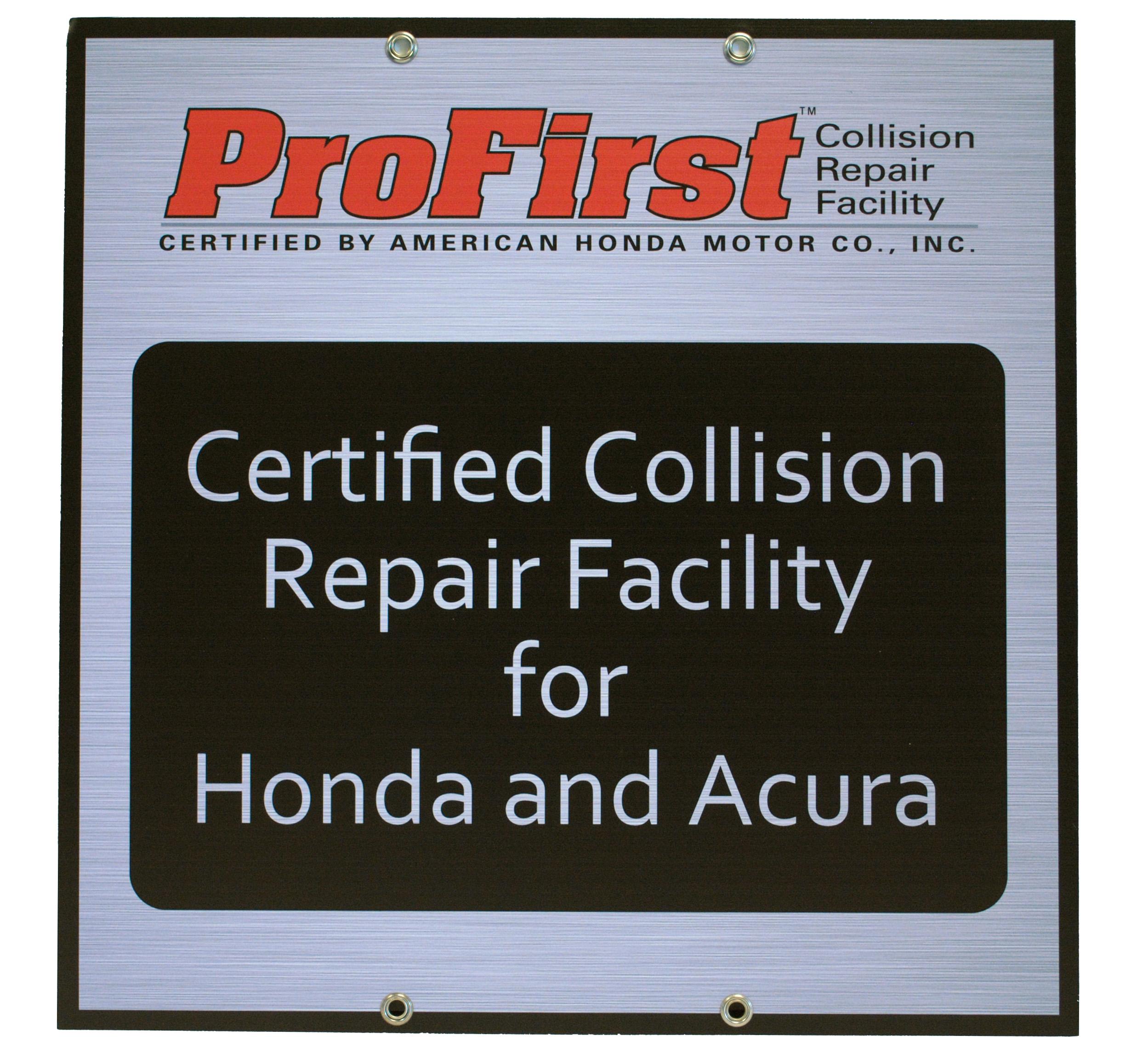 ProFirst Certified Collision Repair - Honda Acura